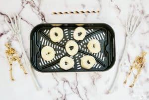 biscuit dough in air fryer basket