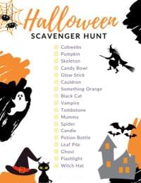 Halloween Scavenger Hunt Checklist SMALL
