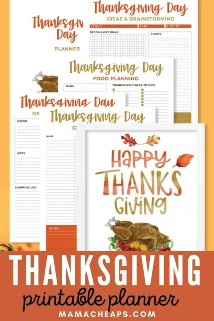 Thanksgiving Day Planner Pack PIN
